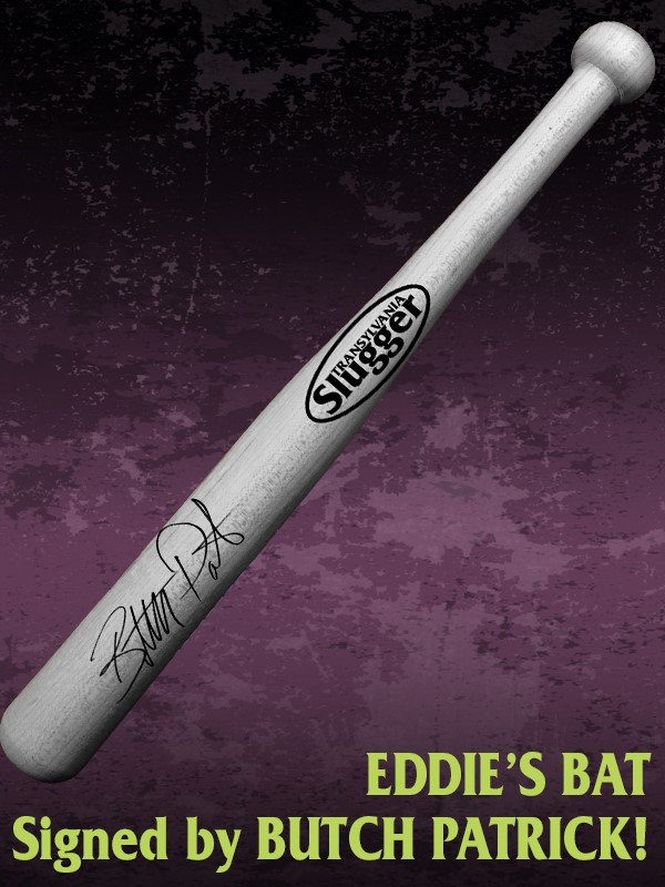 "Eddie's Baseball Bat Signed by ""Butch Patrick"" & ""Michael Westmore"""
