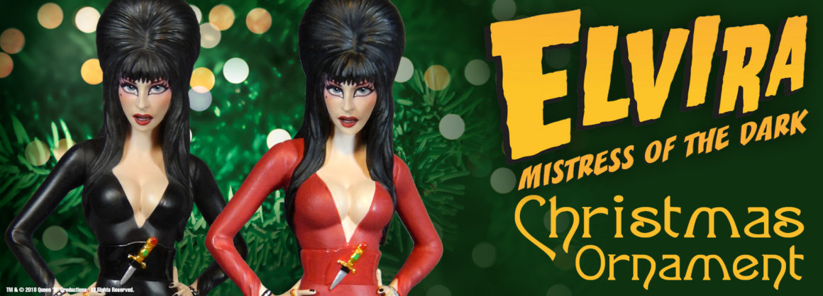 Elvira Christmas Ornament
