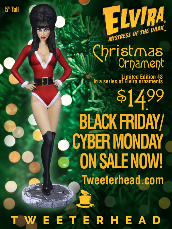 Elvira Santa Christmas Ornament